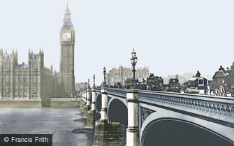 London, Westminster Bridge c1900