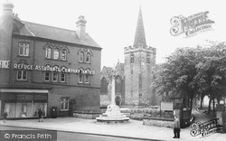 St Laurence's Church And The War Memorial c.1960, Long Eaton