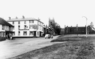 Long Melford, the Green and Black Lion Hotel c1955