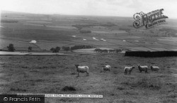 Horseshoe Bends From The Moors c.1960, Long Preston