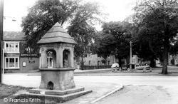 The Fountain And Memorial c.1965, Long Preston