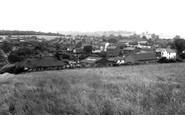 Longfield Hill, view from the Gallops c1960