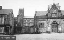 Market Hall And Church c.1955, Longnor