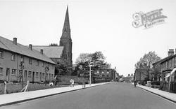 Longridge, St Wilfrid's Church And Preston Road c.1955