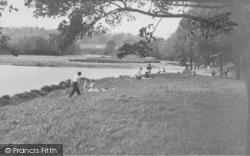 Longridge, The River Ribble At Alston c.1955