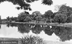 Longton, The Lake In The Park 1940