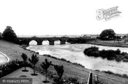 Longtown, The Bridge, River Esk c.1955