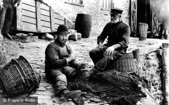 Looe, Mending Nets 1906