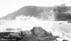 Rough Sea c.1960, Looe