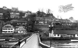 The Bridge And Cinema c.1955, Looe