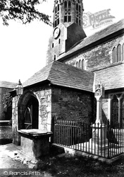 Lostwithiel, St Bartholomew's Church South East Porch And Cross 1893
