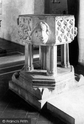 Lostwithiel, St Bartholomew's Church, The Font 1893