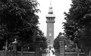Loughborough, Carillon Tower and Queens Park Entrance c1955