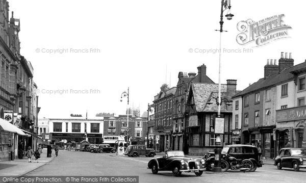 Loughborough, Market Place 1954