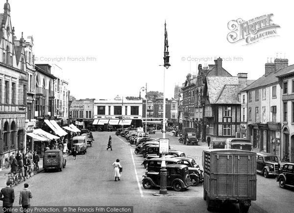 Photo of Loughborough, Market Place c.1950