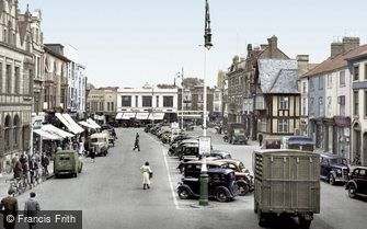 Loughborough, Market Place c1950