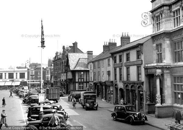 Loughborough, Market Place c1955