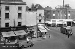 Market Place, Swan Street Corner c.1950, Loughborough