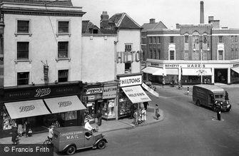 Loughborough, Market Place, Swan Street Corner c1950