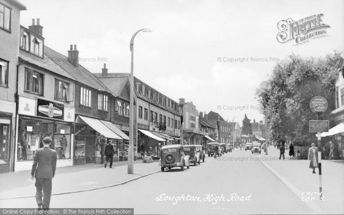 Photo of Loughton, High Road c.1950