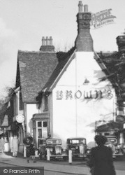Loughton, Old Brown's Garage c.1955