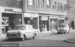 Loughton, The High Road Shops c.1960
