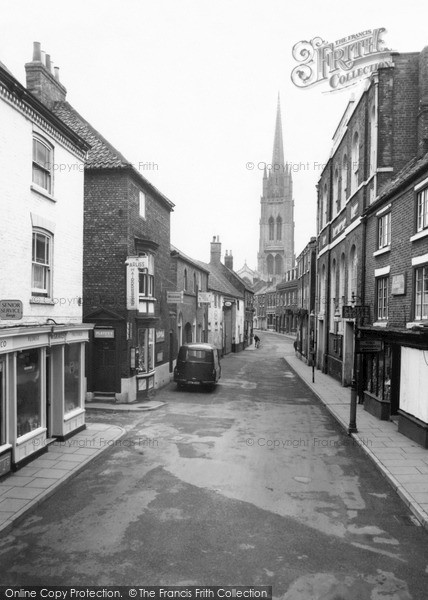 Photo of Louth, Eastgate And St James Church c.1960