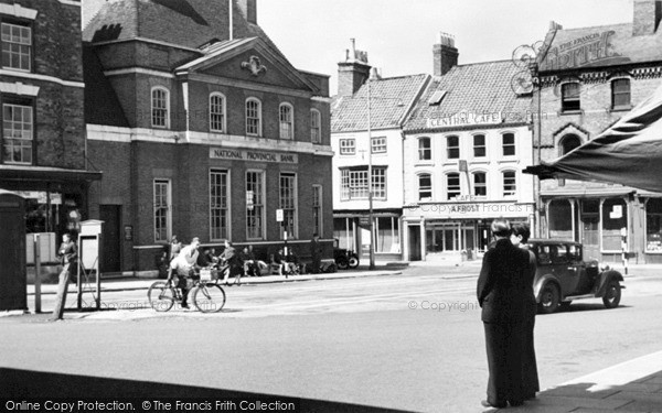 Photo of Louth, Market Place 1949