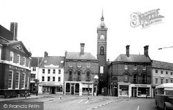 Market Place And Market Hall c.1960, Louth