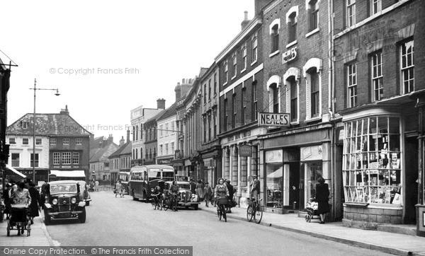 Photo of Louth, Mercer Row c.1955