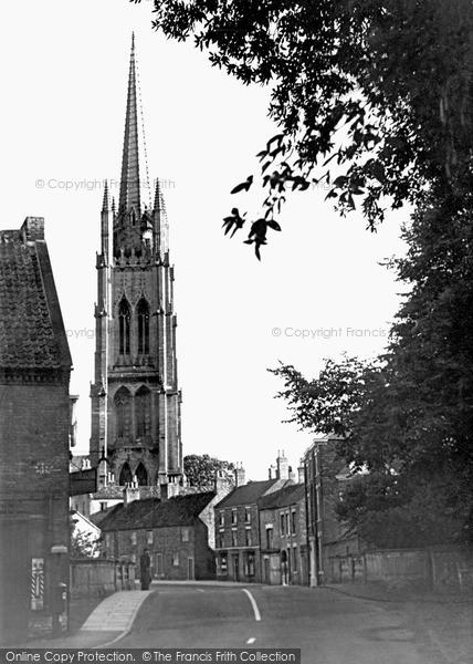 Photo of Louth, St James Church From Bridge Street c.1955