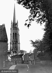 Louth, St James Church From Bridge Street c.1955