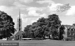 St James Church From The Grammar School c.1955, Louth