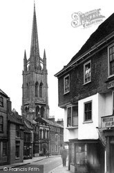 St James Church From Upgate c.1955, Louth