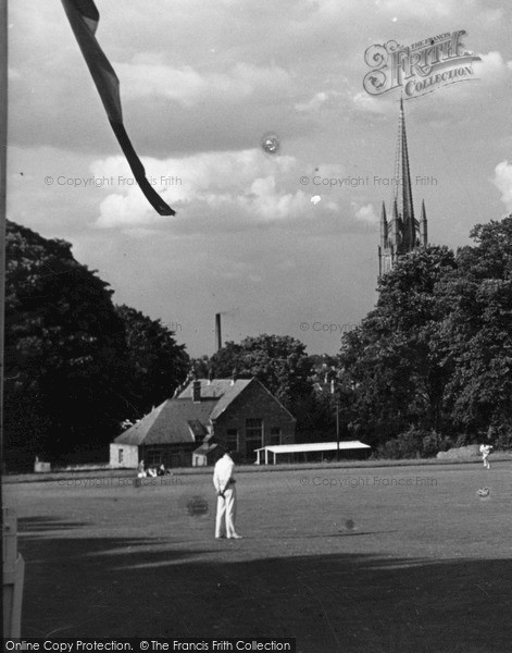 Photo of Louth, The Grammar School Playing Fields c.1955
