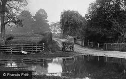 Wooden Carts By The Pond 1907, Lower Froyle
