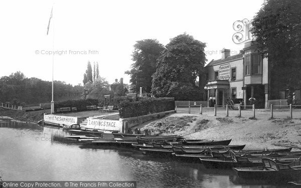 Halliford, the Ship Hotel and river, 1899. Reproduced courtesy of The Francis Frith Collection