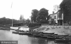 Lower Halliford, The Ship Hotel And River 1899