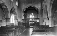 Lower Heyford, the Church interior c1960