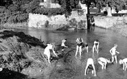 Lower Heyford, the River Cherwell c1960