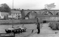 Fishing At The Harbour c.1965, Lower Largo