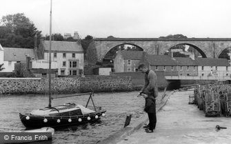 Lower Largo, Fishing at the Harbour c1965