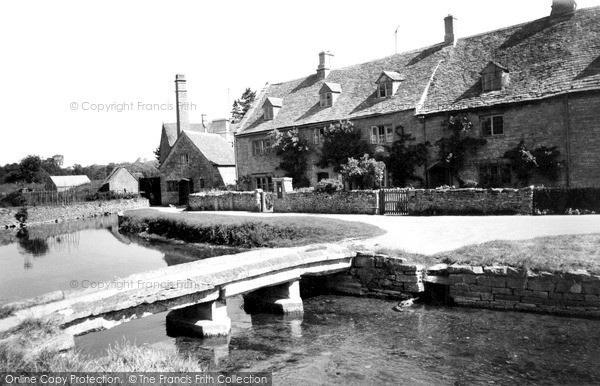 Lower Slaughter,the mill c1955,Gloucestershire