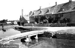 The Mill And Post Office c.1955, Lower Slaughter