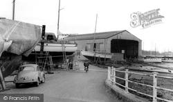 Moody's Boatyard c.1960, Lower Swanwick