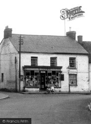 Cowie's General Stores, Church Street c.1955, Lower Weedon