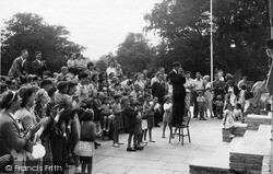 "Lowestoft, ""A Jolly Time On The Terrace"" Gunton Hall Holiday Camp c.1955"