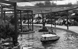 Lowestoft, Electric Boating Lake, Kensington Gardens c.1955