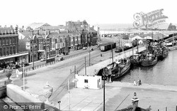 Lowestoft, The Harbour c.1955