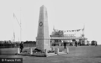 Lowestoft, the War Memorial 1921